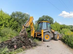 30 кубометров мусора вывезли с берегов реки Кова в Советском районе