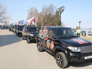 Автомобильный марш росгвардейцев в честь Победы стартовал в Нижнем Новгороде