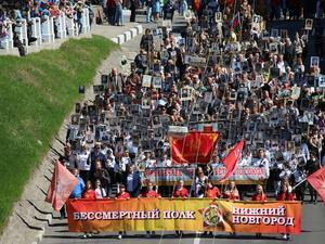 30 тысяч человек приняли участие в акции «Бессмертный полк» в Нижнем Новгороде