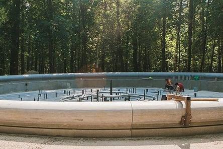 Музыкальный фонтан протестировали в нижегородском парке «Швейцария»