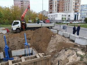 Завершается ремонт напорного коллектора на Московском шоссе