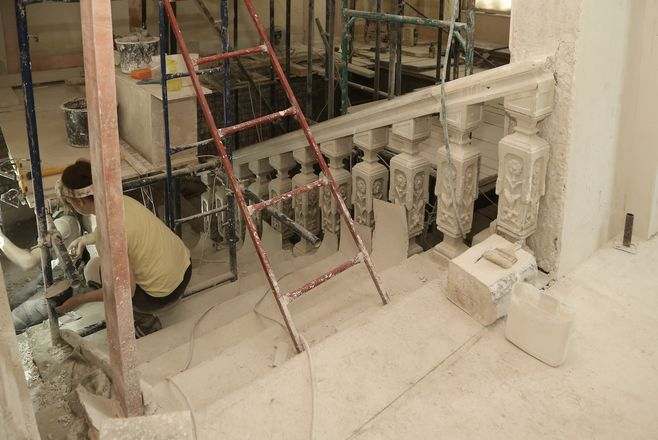 Реставрация фасада Литературного музея близка к завершению - фото 4