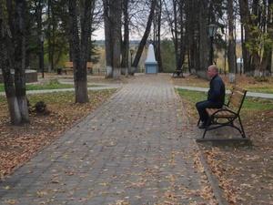 Декоративный мостик и сцена появились в центральном парке Варнавина