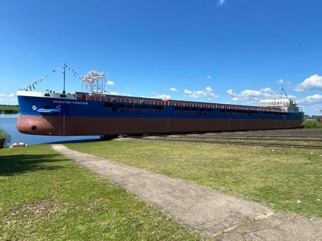 Окская судоверфь спустила на воду седьмой сухогруз для «Астрола» - фото 1