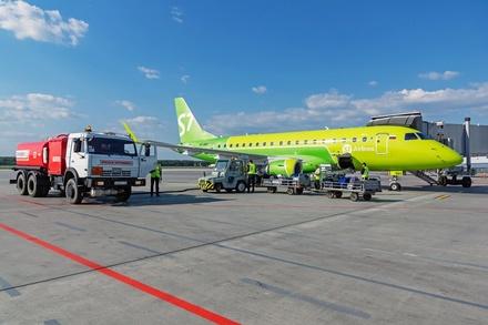 Первый рейс до Новосибирска выполнен из Стригино