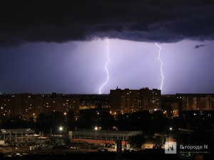 Грозовые ливни пройдут 8 и 9 мая в Нижегородской области