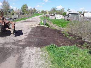 Поврежденный ливнем участок дороги восстановили в Шатковском районе