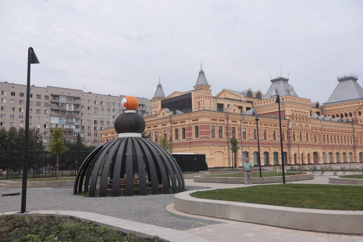 Игровой павильон в виде чайной бабы установили на Нижегородской ярмарке - фото 1