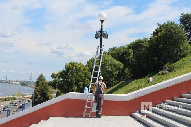 Чкаловскую лестницу открыли, несмотря на продолжающиеся ремонтные работы - фото 23