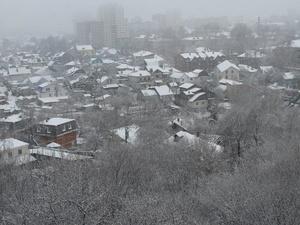 Сильный снегопад обрушился на Нижний Новгород