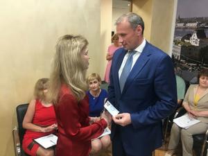 Дмитрий Сватковский получил удостоверение кандидата на довыборы в Госдуму Нижегородской области