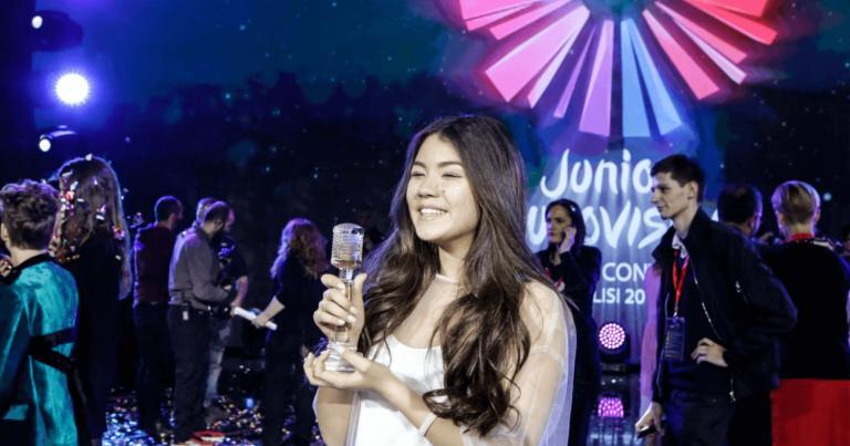 В российской столице встретили победительницу «Евровидения» Полину Богусевич